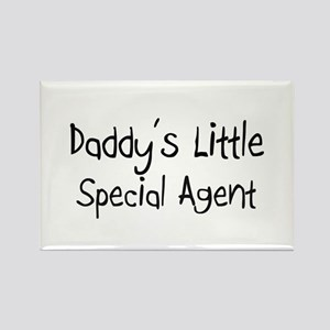 Daddy's Little Special Agent Rectangle Magnet