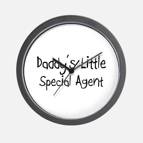 Daddy's Little Special Agent Wall Clock