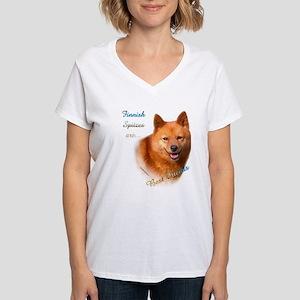 Spitz Best Friend1 Women's V-Neck T-Shirt