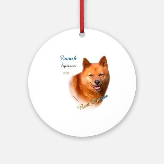 Spitz Best Friend1 Ornament (Round)