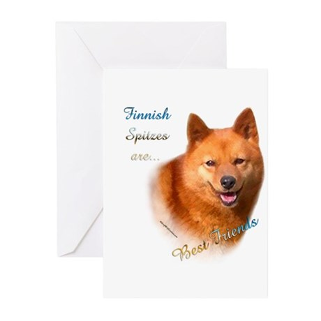 Spitz Best Friend1 Greeting Cards (Pk of 10)