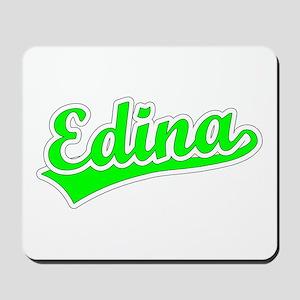 Retro Edina (Green) Mousepad