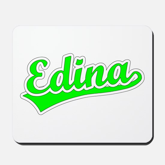 Retro Edina (Green) Mousepad