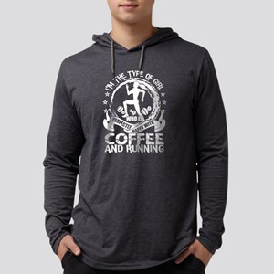 Happy With Coffee And Running Long Sleeve T-Shirt