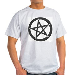 Witchology Pentagram Ash Grey T-Shirt
