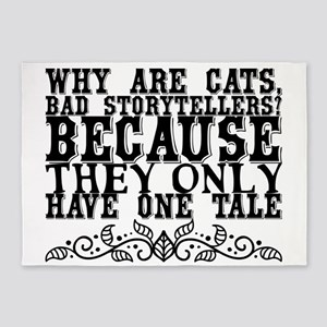 Why are cats, bad storytellers? Bec 5'x7'Area Rug