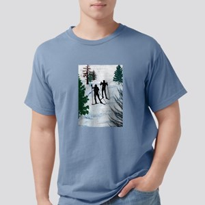 Two Cross Country Skiers in Snow Squall T-Shirt