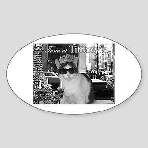 Tuna at Tiffany's Sticker (Oval)