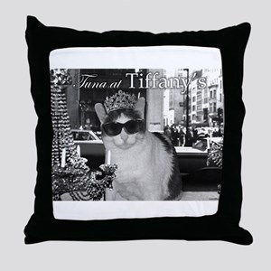 Tuna at Tiffany's Throw Pillow