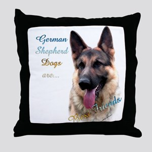 GSD Best Friend1 Throw Pillow