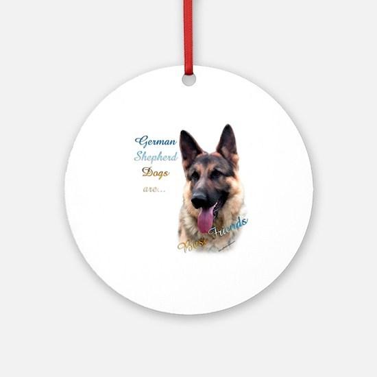 GSD Best Friend1 Ornament (Round)