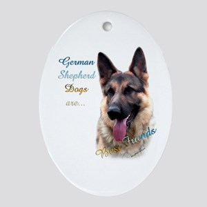 GSD Best Friend1 Oval Ornament