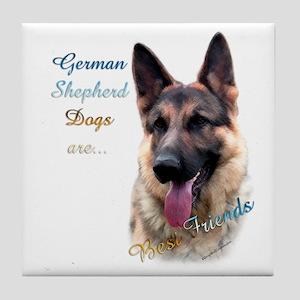GSD Best Friend1 Tile Coaster