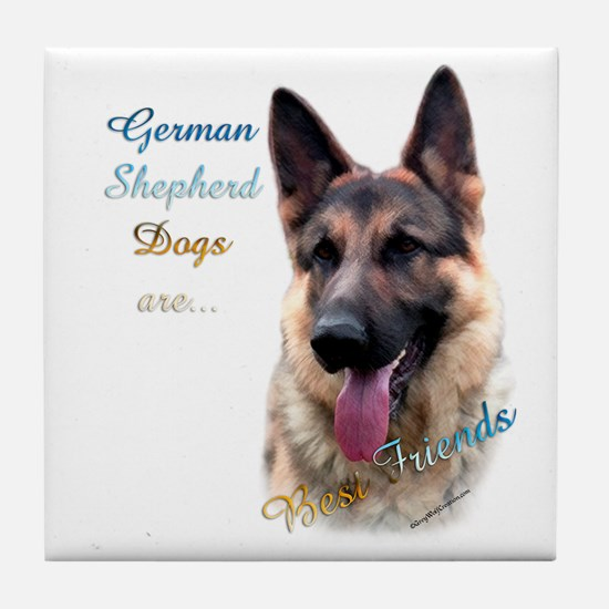 GSD Best Friend1 Tile Coaster