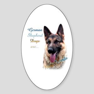 GSD Best Friend1 Oval Sticker