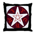 Penta-Witch Throw Pillow