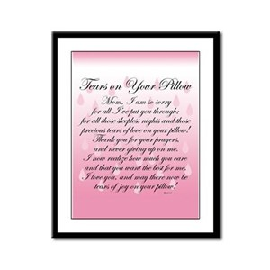 TEARS ON YOUR PILLOW Framed Panel Print