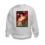 Seated Angel /Italian Spinone Kids Sweatshirt