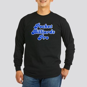 Retro Pocket Bill.. (Blue) Long Sleeve Dark T-Shir