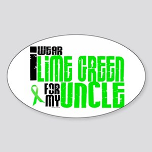 I Wear Lime Green For My Uncle 6 Oval Sticker