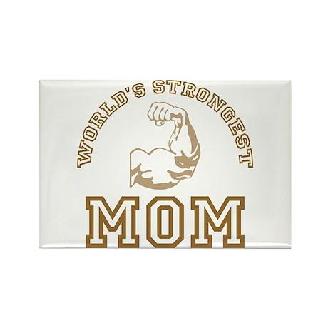 World's Strongest Mom Rectangle Magnet (100 pack)