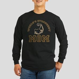 World's Strongest Mom Long Sleeve Dark T-Shirt