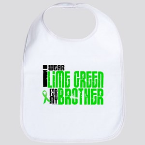 I Wear Lime Green For My Brother 6 Bib