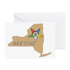 New York OES Greeting Cards (Pk of 10)