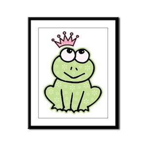 Frog Princess Framed Panel Print
