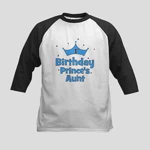 1st Birthday Prince's Aunt! Kids Baseball Jersey