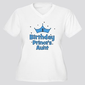 1st Birthday Prince's Aunt! Women's Plus Size V-Ne