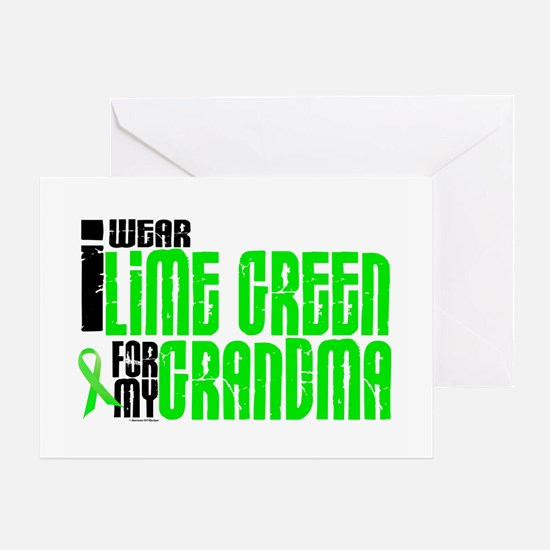 I Wear Lime Green For My Grandma 6 Greeting Card