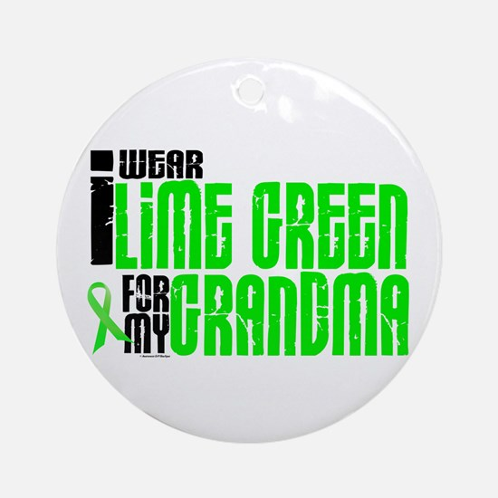 I Wear Lime Green For My Grandma 6 Ornament (Round