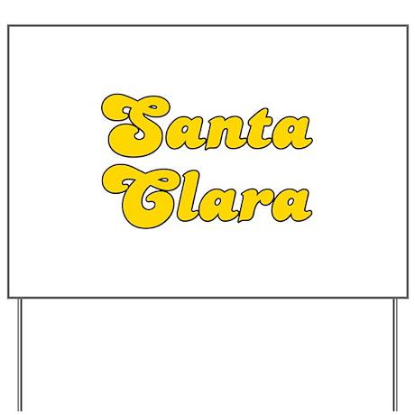 Retro Santa Clara (Gold) Yard Sign