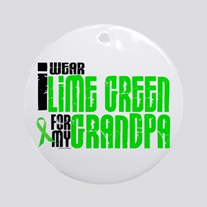 I Wear Lime Green For My Grandpa 6 Ornament (Round