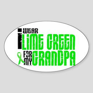 I Wear Lime Green For My Grandpa 6 Oval Sticker