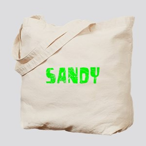 Sandy Faded (Green) Tote Bag