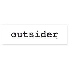 outsider Bumper Bumper Sticker
