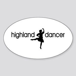 Highland Dancer GIRL Oval Sticker