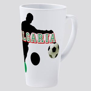 Bulgarian Soccer Player 17 oz Latte Mug
