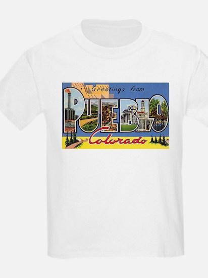 Pueblo Colorado Greetings (Front) T-Shirt