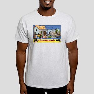 Pueblo Colorado Greetings (Front) Light T-Shirt