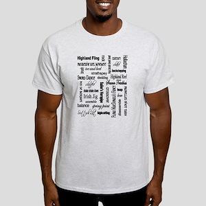 Highland Dancing WORDS Light T-Shirt