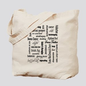 Highland Dancing WORDS Tote Bag