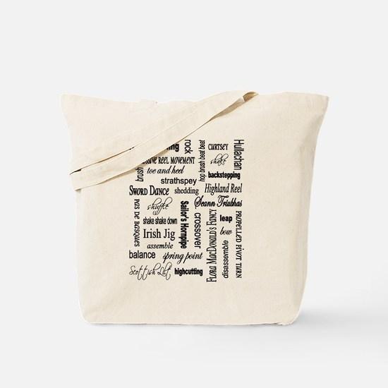 Highland Dancing WORDS Tote Bag