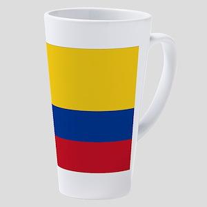 Flag Of Colombia 17 Oz Latte Mug