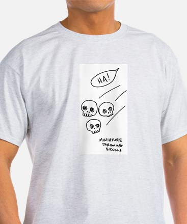 """Miniature Throwing Skulls"" T-Shirt"