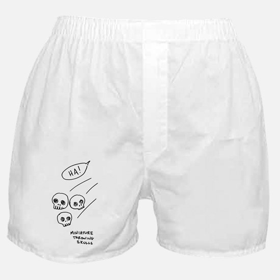 """Miniature Throwing Skulls"" Boxer Shorts"