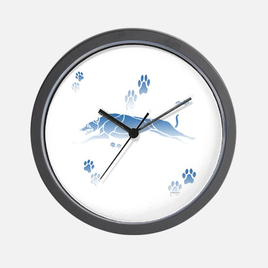 Running Grey (blue) Wall Clock
