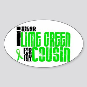I Wear Lime Green For My Cousin 6 Oval Sticker